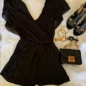 Butterfly Sleeve Skort Dress Jumpsuit